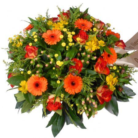 Rouwbiedermeier geel - oranje